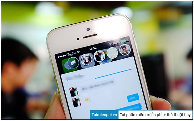 cach bat mini chat zalo tren iphone