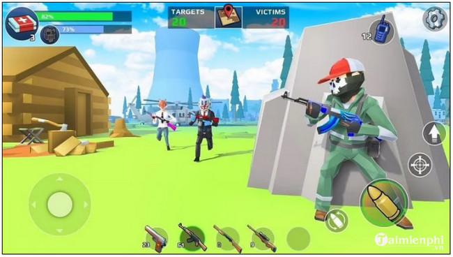 5 game giống Fortnite cho Android dưới 500 MB