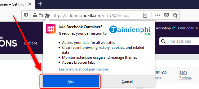 Firefox accounts by user on the firefox 3 browser