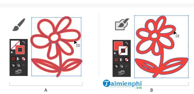 Cách tô màu và thay đổi màu trong Adobe Illustrator 7