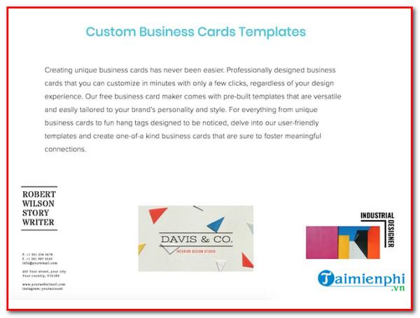top website design professional business cards