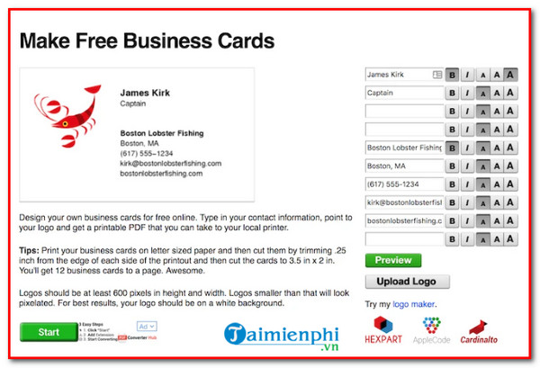 website design beautiful online business card and professional technology