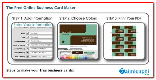 top website design professional business card
