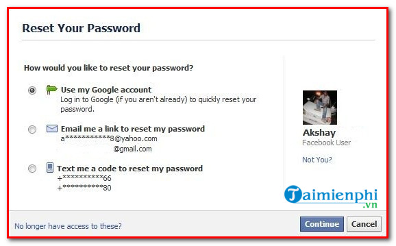 When you get used to it, you can't change your Facebook password again