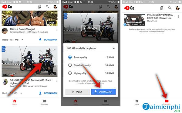 Cách tải video từ YouTube về thẻ nhớ trên điện thoại Android 4