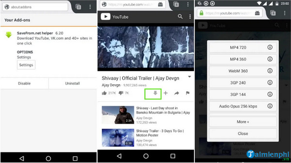 Listen to music and youtube videos on your phone through a web browser