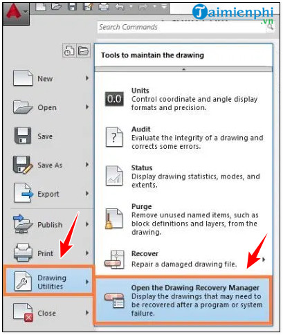 How to save the autocad file 2