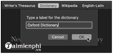 Cách cài từ điển Anh Việt trên Macbook