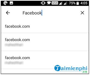Cách xem mật khẩu Facebook đã lưu trên điện thoại 3