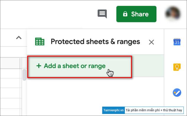 khoa cong thuc tren google sheets