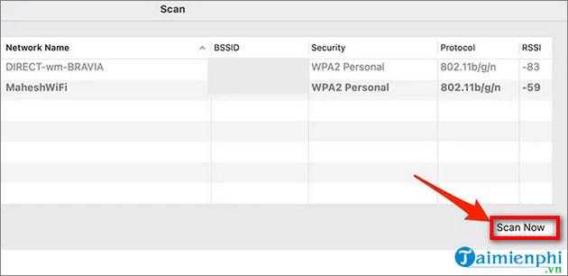 xem mang Wifi manh nhat tren macOS