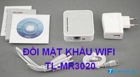 Cách đổi mật khẩu wifi TL-MR3020, thay pass wifi TP Link TL-MR3020