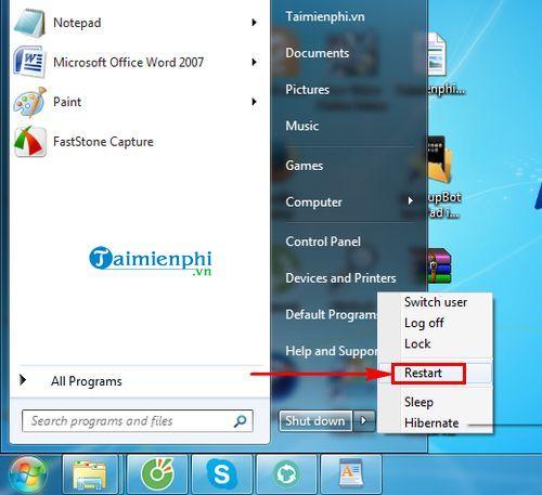 Cách tăng tốc độ mạng Windows 7 6