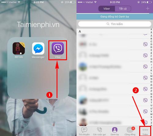 bat tat thong bao tin nhan viber tren android iphone