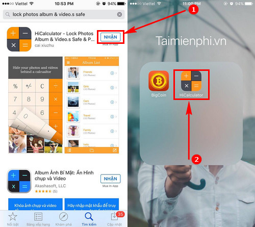 huong dan an video hinh anh tren iphone ipad
