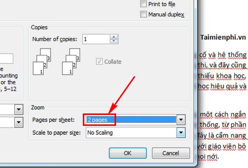 Cách in A4 thành 2 tờ A5 trong Word, Excel 2