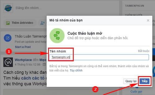 Cách tạo tài liệu nhóm trên Facebook Workplace
