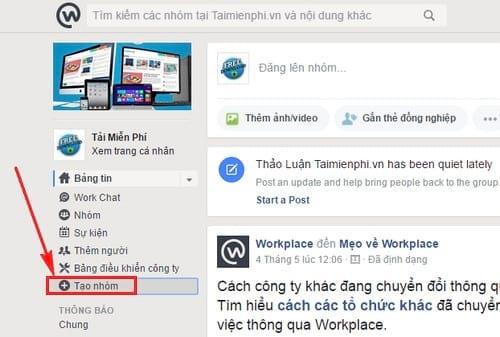cach tao tai lieu nhom tren facebook at work