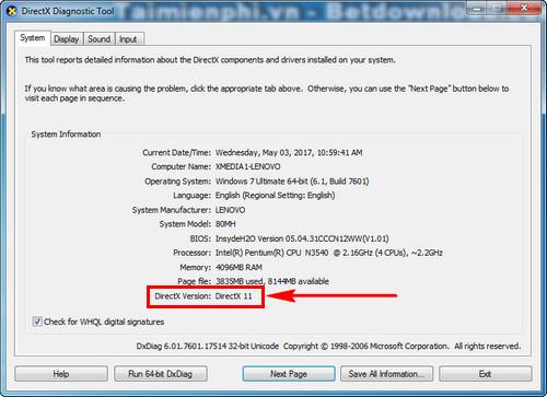 Hướng dẫn gỡ bỏ DirectX 11 khỏi máy tính