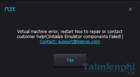 Sửa lỗi Nox phổ biến, lỗi NoxPlayer hay gặp