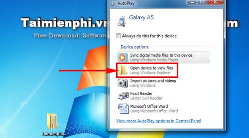 Cách kết nối điện thoại Samsung với máy tính 2
