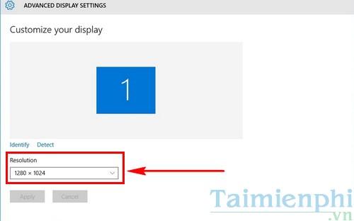 Cách chỉnh độ phân giải màn hình Windows 10 trên các màn hình khác nhau 3