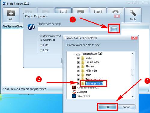 Cách sử dụng Hide Folder phần mềm khóa thư mục, ẩn, bảo mật file 6