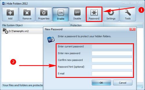 Cách sử dụng Hide Folder phần mềm khóa thư mục, ẩn, bảo mật file 8