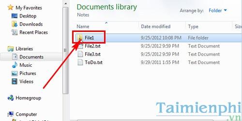 Cách tạo thư mục từ file có sẵn, tạo thư mục trùng tên file