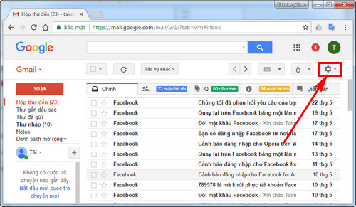 xoa spam mail tu dong tren gmail