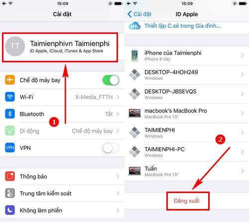 Cách xóa tài khoản Apple ID, delete iD Apple trên iPhone, iPad 4