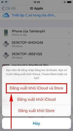 Cách xóa tài khoản Apple ID, delete iD Apple trên iPhone, iPad 5