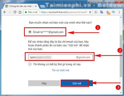 Cách lấy lại mật khẩu Outlook bị quên