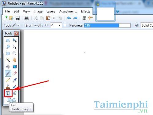Cách tạo chữ uốn vòng trong Paint.NET