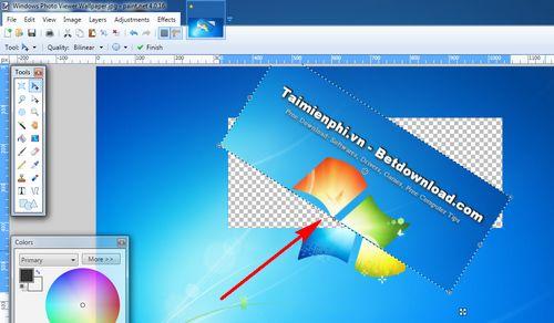 Cách xoay các đối tượng được chọn trong Paint.NET