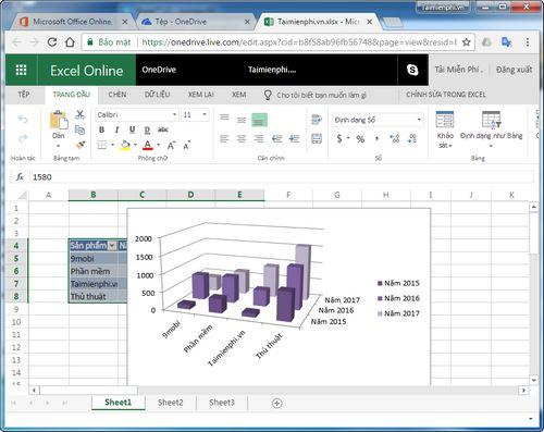 Cách sử dụng Excel Online, trực tuyến trên máy tính