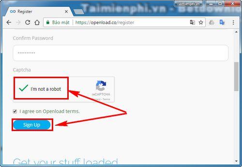 Cách tạo tài khoản Openload 3