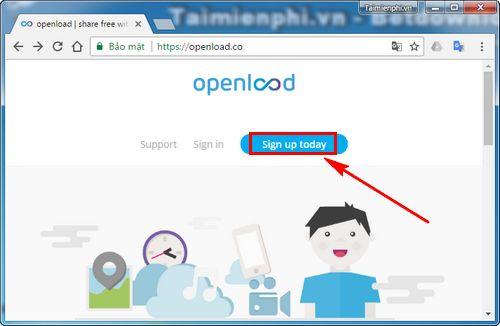 Cách tạo tài khoản Openload