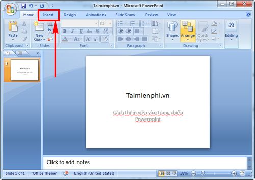 cach them vien vao trang chieu powerpoint