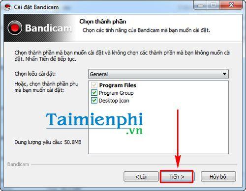 [TaiMienPhi.Vn] Cách cài Bandicam,         ứng dụng quay video màn hình máy tính