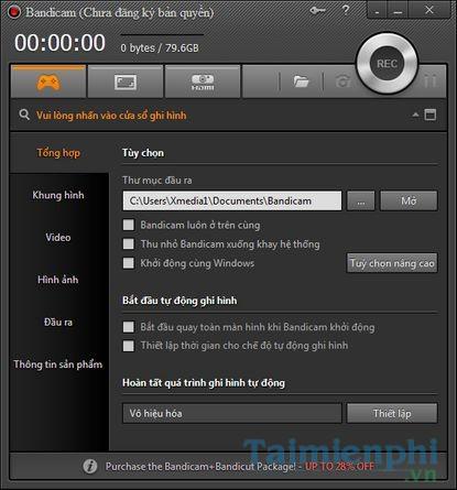 [TaiMienPhi.Vn] Cách cài Bandicam, phần mềm quay video màn hình máy tính