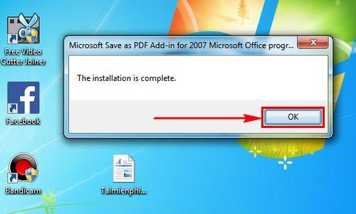Cách chuyển file Word sang PDF trong Word 2007 2