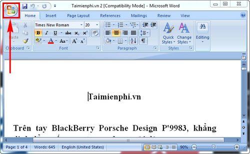 Cách chuyển file Word sang PDF trong Word 2007 3