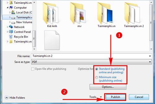 Cách chuyển file Word sang PDF trong Word 2007 6