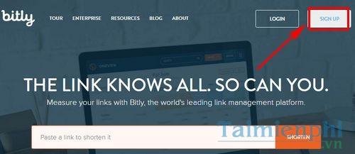 Cách đăng ký tài khoản bit.ly và rút gọn link bit.ly