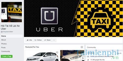 danh sach nhom uber tren facebook taxi uber xe om