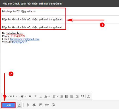 hop thu gmail cach mo nhan gui mail trong gmail 5