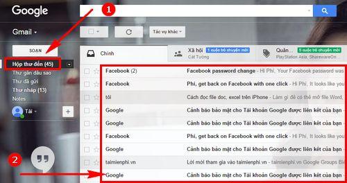 hop thu gmail cach mo nhan gui mail trong gmail 6