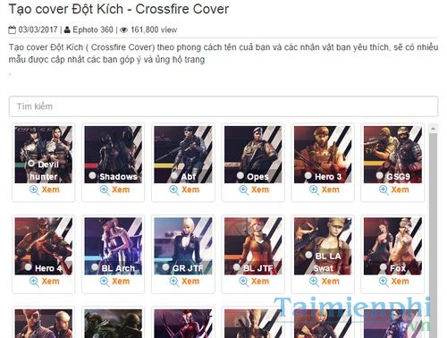 tao cover dot kich lam anh bia facebook dot kich crossfire