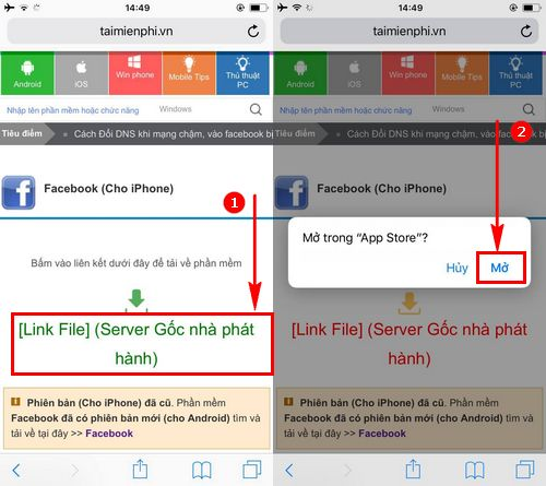 cach cai facebook tren iphone 7 6s 6 5s 5 4